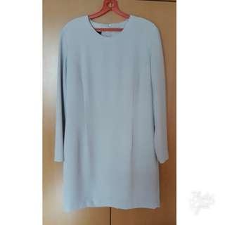 Stitches (Australian brand) plus size classic midi shift dress in grey