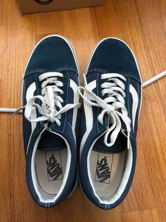 Vans classic blue shoes 經典藍色滑板鞋