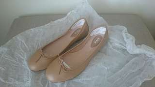BRAND NEW sz 38 Bloch Fonteyn genuine leather ballet flats tan
