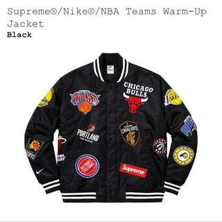 Supreme/Nike/NBA warm up jacket
