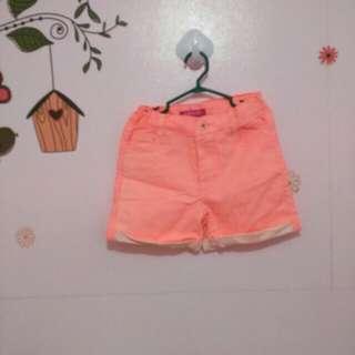 Neon orange short