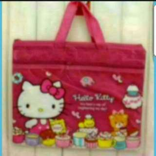 In Stock Hello Kitty A4 Document Folder With Zip And Handle  Carrier Bag