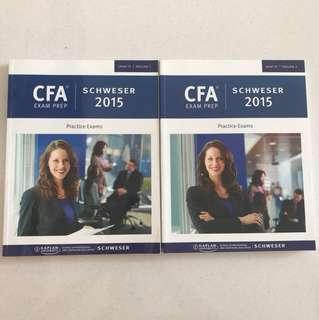 CFA Exam Prep Level 3 Schweser 2015 Vol 1+2