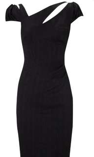 Karen Millen Jacquard Moire Black Dress