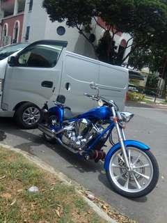 Towing / onsite bike repair / mobile mechanic / Honda Fury