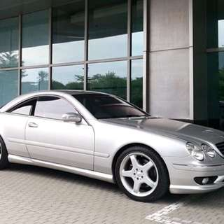 Silver On Grey CL55 AMG Benz 2000 Good Condition