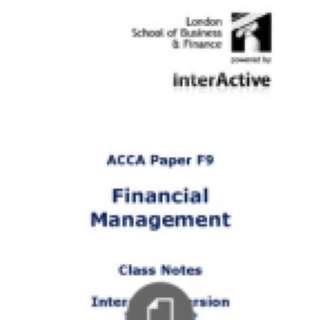 ACCA F6-F9 textbooks, class notes and revision kit