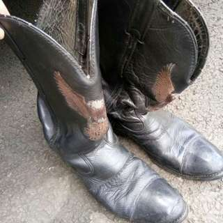 Sepatu kulit aslii harley davidson dr USA
