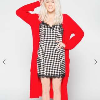 EGGIE Holiday Cozy Cardigan Red