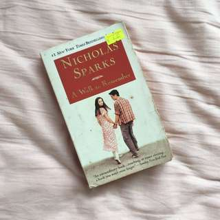 A Walk to Remember by Nicholas Sparks book
