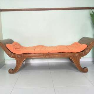Solid Wood Bench cum Cushion