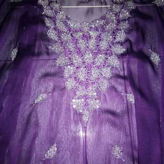 Atasan Kaftan Purple