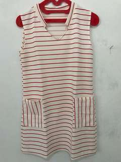 Daily dress white-red