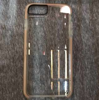 Iphone 7 Plus Gold Flex Shock Transparent Shockproof Case