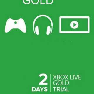 Xbox live membership 2 days