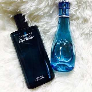 DAVIDOFF COOL WATER FOR WOMEN AND MEN 😘