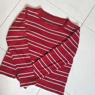 BN Casual Striped Crop Top (Free Size)