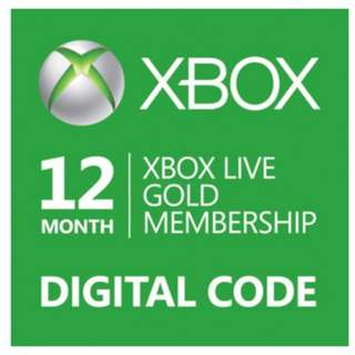 Xbox live membership 12 months