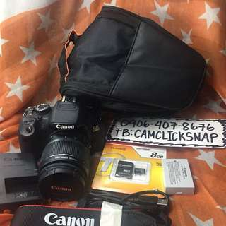 Canon 650d with 18 55mm is lens and accesories free bag 5k actuations only