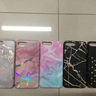 Iphone 7 plus/ 8 plus marble case bundle