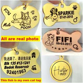 Customized DIY Deep Engraving Pet ID Tag For Dogs & Cats