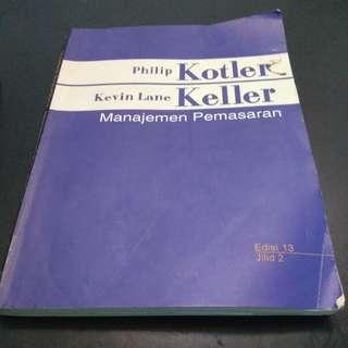 buku manajemen pemasaran karangan kotler