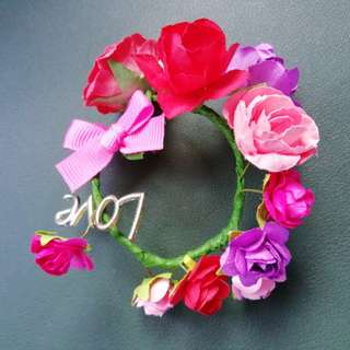 Handmade bridesmaids hand flower