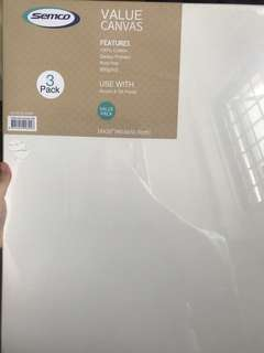 "Canvas painting board, 16x20"" (3 in a pack)"