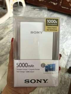 BNIB Sony Power Bank 5000mAh