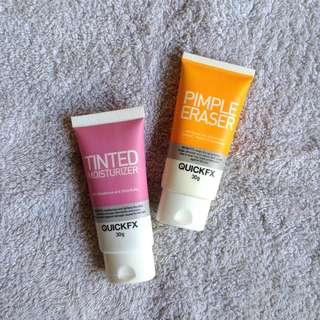 Tinted moisturizer & Pimple eraser