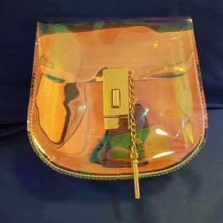 Hollographic sling bag