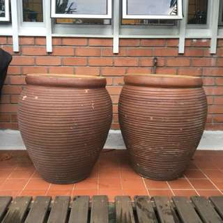 Tall outdoor pots