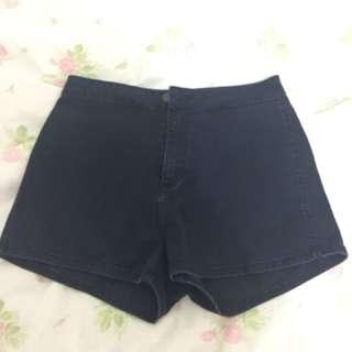 Lee High Waisted Riders Dark Denim Shorts