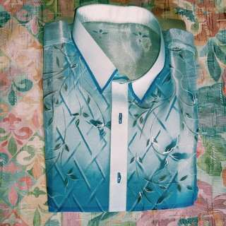 White and Blue Barong