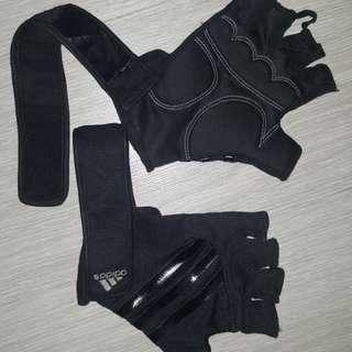 Adidas gym glove