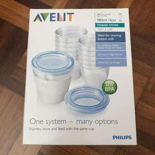 Avent Sterilise milk storage cup 180ml/ 10pcs
