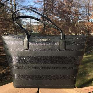 Kate Spade Hani Haven in Black Glitter
