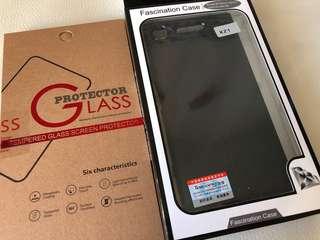 全新XZ1 case + 玻璃mon貼