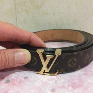 LV Louis Vuitton Monogram 路易威登 皮帶 belt