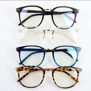 UV400 Lens Big Glass Spectacles