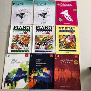 Piano books grade 1 - 3
