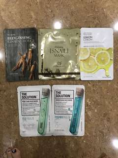 The face shop mask, caring snail mask