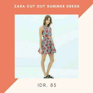 Zara Cutout Summer Dress