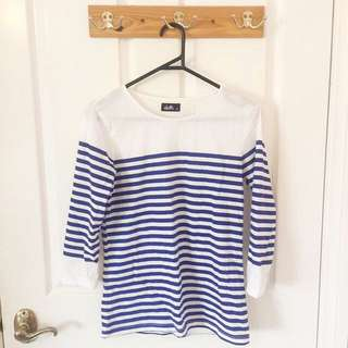 Blue/White Striped Top