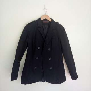 Classified black coat