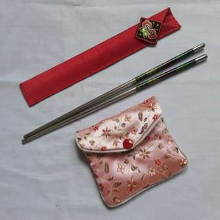 Bundle Korean Chopsticks & Coin Purse