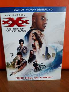 USA Blu Ray Slipcase - Xxx return of xander cage