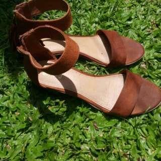 Brown Simple Heels