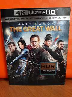USA Blu Ray Slipcase UHD - Great Wall 4K