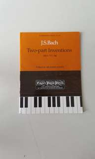 J.S. Bach Two-Part Inventions BWV 772-786